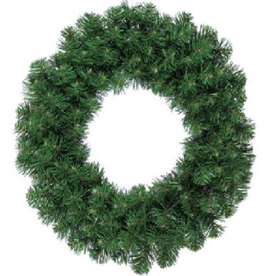 Green Christmas Door Wreath - Dark Green - 50cm Diameter