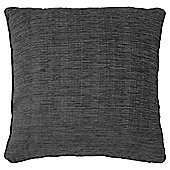 Tesco Flat Chenille Charcoal 50x50 Cushion