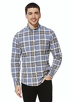 F&F Grindle Check Long Sleeve Shirt - Blue
