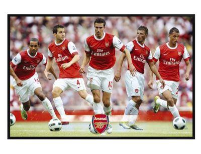 Arsenal Football Club Gloss Black Framed The Gunners Star Players AFC Poster
