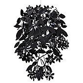 Leaves & Flowers Ceiling Pendant Light Shade, Black