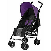 OBaby Atlas Stroller (Grey Stripe/Purple)