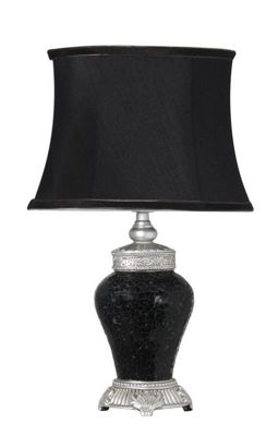 Sparkle Mosaic Small Regency Lamp with Silver - Stylish Black
