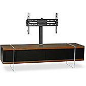 MDA Designs Space Hybrid Walnut Cabinet with Bracket for up to 60 inch TVs
