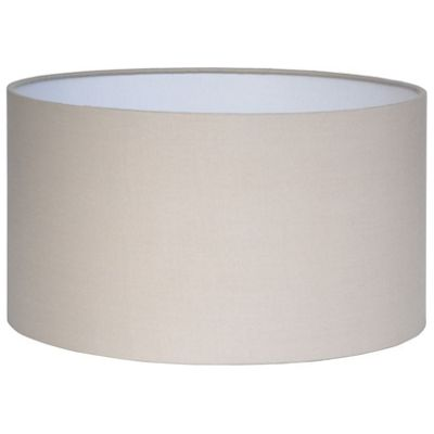 Modern 35cm Taupe Lamp Shade Poly Cotton Cylinder Drum Shade
