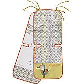 Jane Reversible Cotton Pushchair Seat Liner (Tucan)