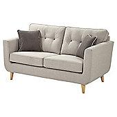 Chester Button Back Medium 2.5 Seater Sofa, Light Grey