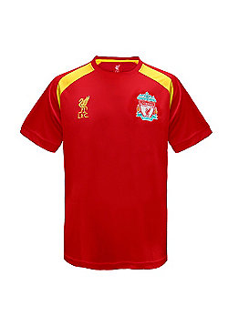 Liverpool FC Boys Poly T-Shirt - Red
