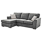 Boston Left Hand Corner Chaise, Dark Grey