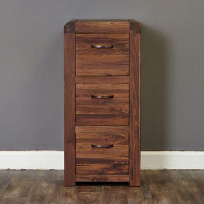 Salem Walnut 3 Drawer Filing Cabinet