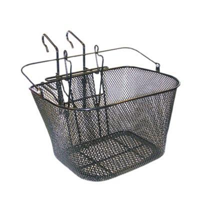 Basil MTB Front Wire Basket & Hook-On Bracket Black