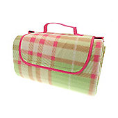 Country Club Picnic & Beach Blanket 130 x 150cm, Green Tartan