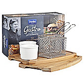 James Martin by Denby Gastro two 3 piece serving kits (fish & chip/burger)