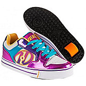 Heelys Motion Plus White/Fuschia/Multi Kids Heely Shoe - Pink