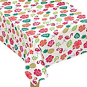 Aloha Summer Flannel Tablecover - 1.32m x 2.28m