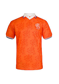 Holland Mens 1983 1994 Retro Shirt - Orange & White