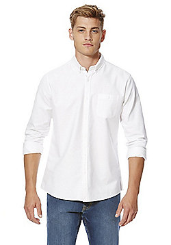 F&F Long Sleeve Oxford Shirt - White