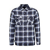 Mountain Warehouse Valley Mens Flannel Lined Long Sleeve Shirt ( Size: M )