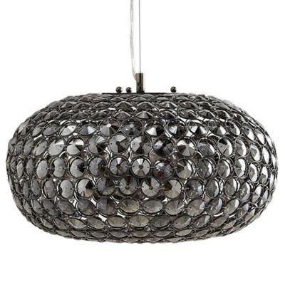 Litecraft Vernon 3 Bulb Glass Mesh Ceiling Pendant, Smoke
