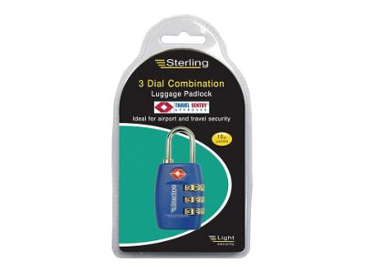 Sterling CPL126 Combi Tsa Padlock Asstd 26Mm