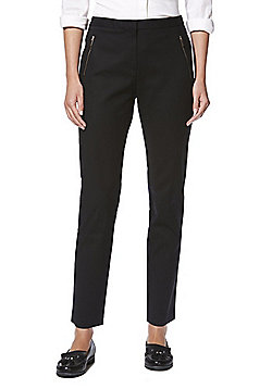 F&F Slim Fit Ankle Grazer Trousers - Black