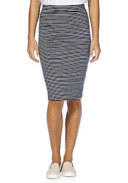F&F Striped Tube Skirt - Navy