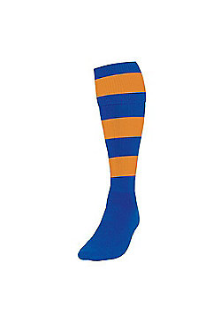 Precision Training Club Weight Stretch Nylon Hooped Football Socks - Navy & Yellow