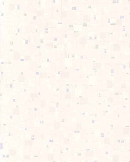 Contour Spa Tile Effect Kitchen Bathroom White/Blue Wallpaper