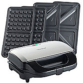 VonShef 2 in 1 Sandwich Toaster and Waffle Maker - 800W