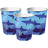 Shark Splash Party Paper Cups 256ml - 8 Pack