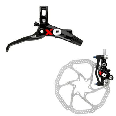 Avid X0 Carbon GS Black/Red Rear 140mm HS1 Rotor (IS and Post Mount)
