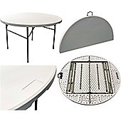 Harbour Housewares Folding, Events, Table - 4ft Round. Foldable. Easy To Store