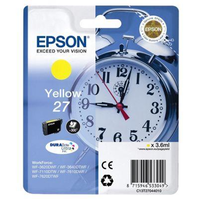 Epson Alarm Clock 27 DURABrite Ultra Ink Cartridge (Yellow)
