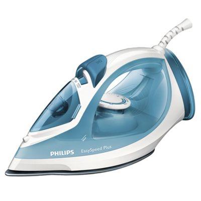Philips GC2040/70 Non Stick Plate Steam Iron - Blue & White