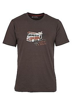 Mountain Warehouse Men's Cotton T-shirt - Brown