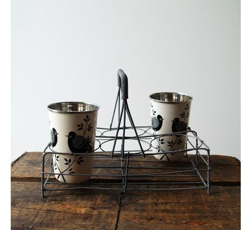 Wire storage basket for 6 glasses, bottles or pots