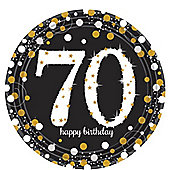 Sparkling Celebration Age 70 Plates - 23cm Paper Party Plates
