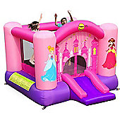 Princess Slide and Hoop Bouncy Castle