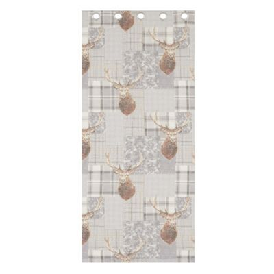 Catherine Lansfield Heritage Stag Grey Curtains - 66x72 Inches (168x183cm)
