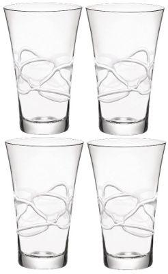 Bormioli Rocco Ceralacca Hiball Glasses - 380ml - 12.75oz - White - Set of 4