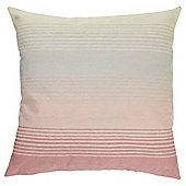 Tesco Embroidered Stripe Pink Cushion