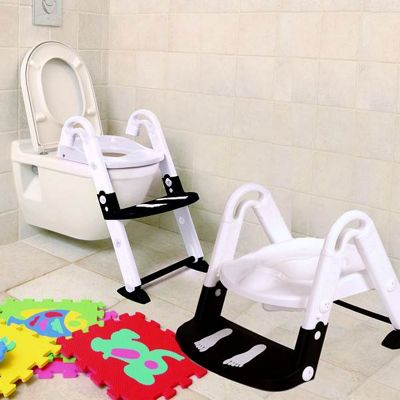 Kids Kit Kidseat Toilet Trainer 3-in-1 Black And White