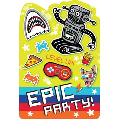 Epic Party Postcard Party Invitations