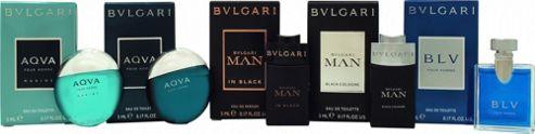 Bvlgari Men Miniature Collection Gift Set 4 x 5ml EDT + 5ml EDP For Men