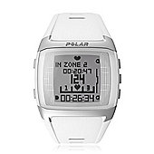 Polar FT60 White Fitness Watch & Wearlink Heart Rate Monitor