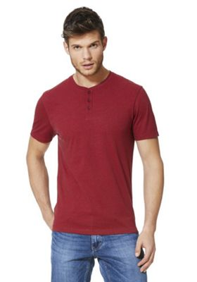 F&F Grandad T-Shirt with As New Technology Red Marl 2XL