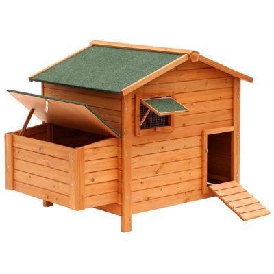 PawHut Chicken Poultry Coop Hen House Cage Nesting Box (134.5L x 90W x 99.5H cm)