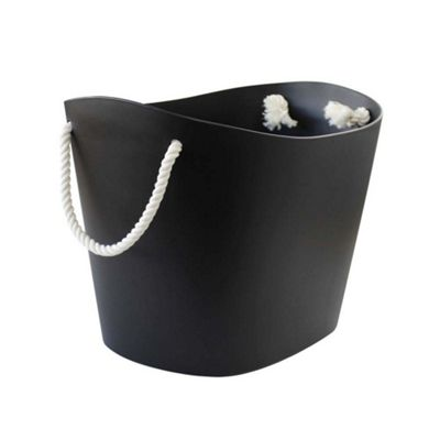 Hachiman Balcolore Laundry & Storage Basket Medium Black