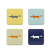 Scion Mr Fox Set of 4 Coasters, Blue