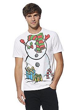 F&F Snowman Body Christmas T-Shirt - White